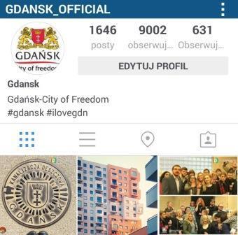 Instagram Miasta Gdańsk ma 9 tys. obserwujących