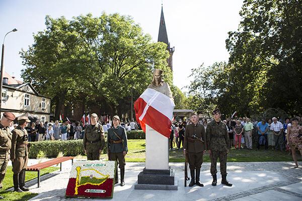 Pomnik Inki został odsłonięty 30 sierpnia 2015 r. w Gdańsku-Oruni.