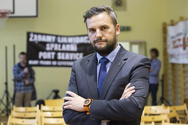 Łukasz Hamadyk, radny PiS: Cieszę się, bo mieszkańcy Nowego Portu poczuli, że są poważnie traktowani.
