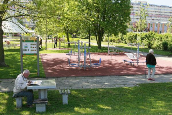 Aktive Park na Przymorzu przy ul. Jagiellońskiej powstał dzięki Budżetowi Obywatelskiemu.