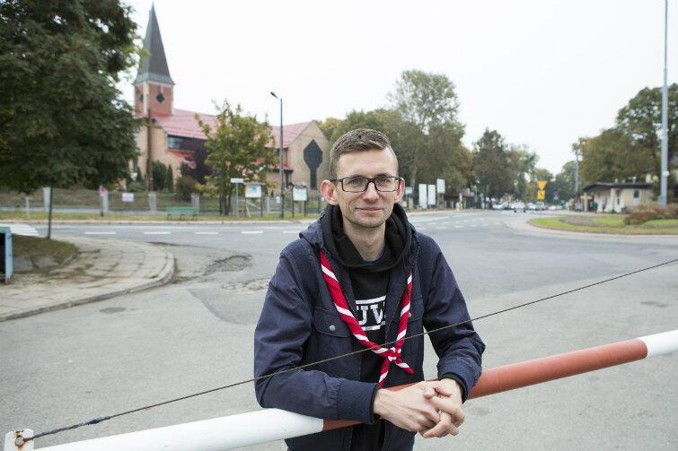 Harcmistrz ZHP Karol Gzyl w ekspresowym tempie odbył podróż na trasie Warszawa-Sobieszewo-Warszawa.