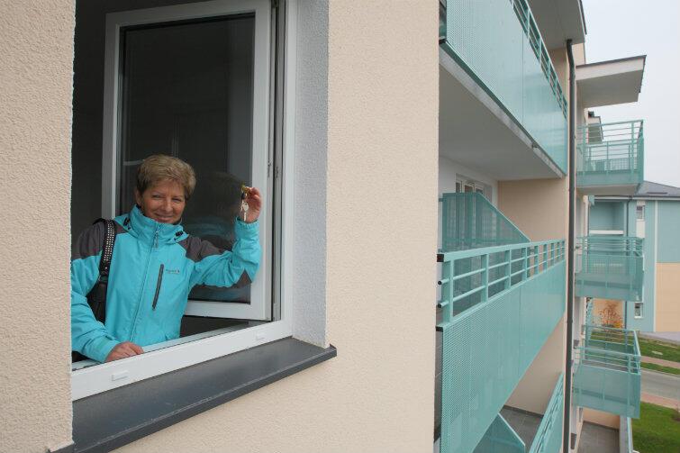 Pani Bogusława może już urządzać swoje nowe mieszkanie.