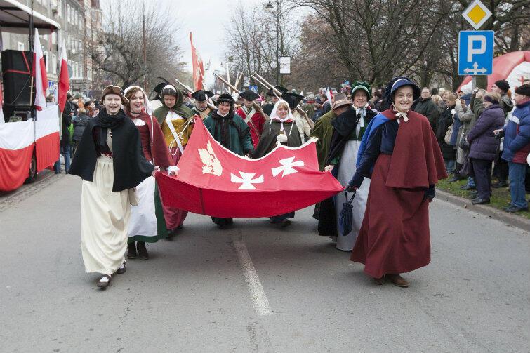 Parada Niepodległości w Gdańsku, rok 2013.