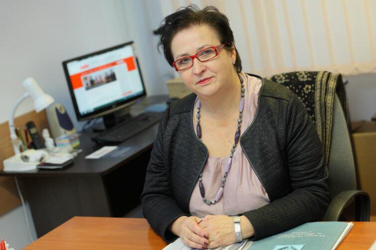 Bożena Brauer, przewodnicząca Komisji Międzyzakładowej Pracowników Oświaty i Wychowania NSZZ Solidarność w Gdańsku.