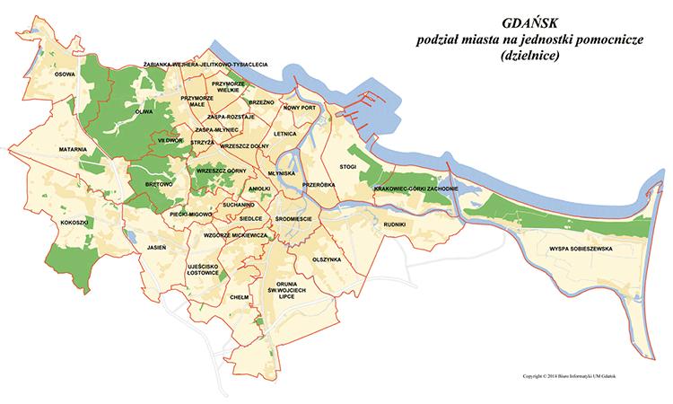 mapa dzielnic