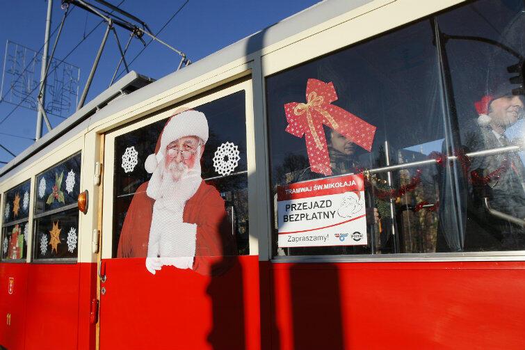 Mikołajowy i zabytkowy tramwaj N znowu rusza w trasę.