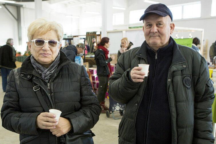 Danuta i Sławomir, mieszkańcy Brzeźna.