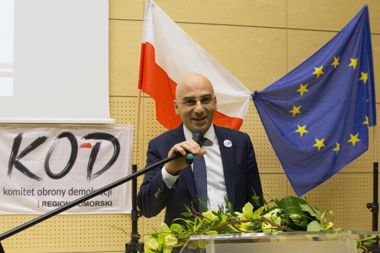 Radomir Szumełda, od 16 stycznia koordynator KOD w Pomorskiem.