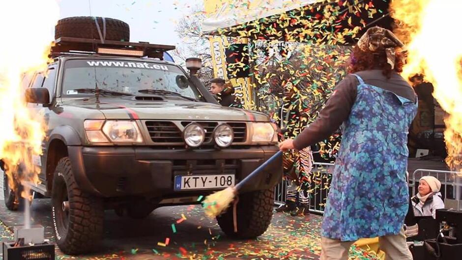 Rozpoczęcie rajdu Budapest-Bamako