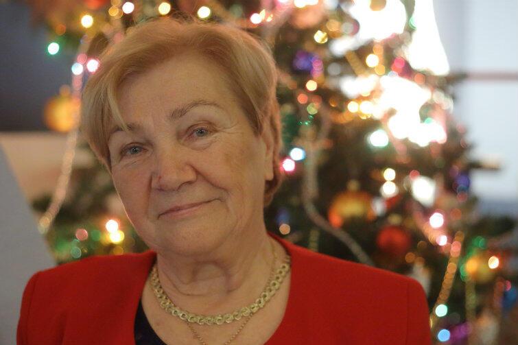 """Helena Turk, szefowa i motor napędowy Klubu Seniora """"Motława""""."""