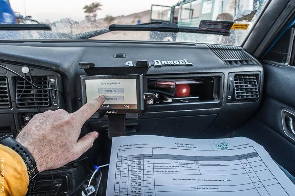 Członek Attention Dangel wpisuje błędne współrzędne na GPS