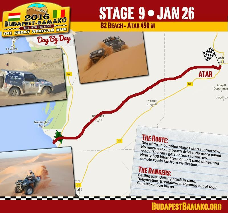 Dziewiąty etap rajdu: B2 Beach-Atar