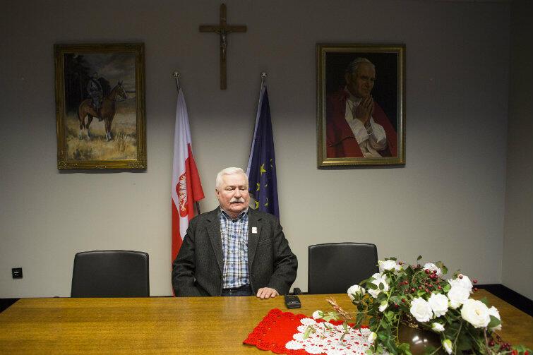 Lech Wałęsa w swoim biurze w ECS, choć teraz jest pewnie w Miami. Ostatnio chwalił tamtejszą pogodę i kuchnię.