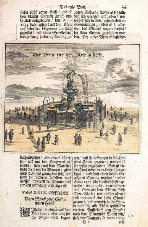 """Ilustracja w """"Der Stadt Dantzig"""" z 1688 roku."""