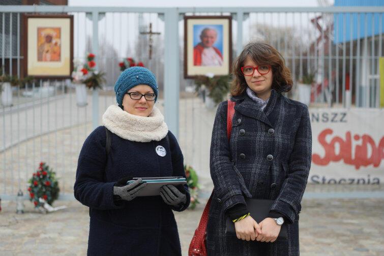 Twórczynie aplikacji: Anna Miler (z lewej) i Marta Tymińska.
