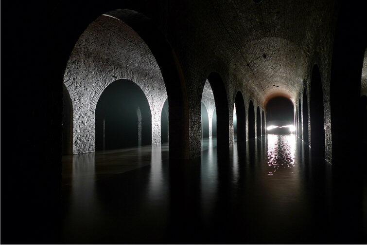 Tajemnicze wnętrze zbiornika Stara Orunia.