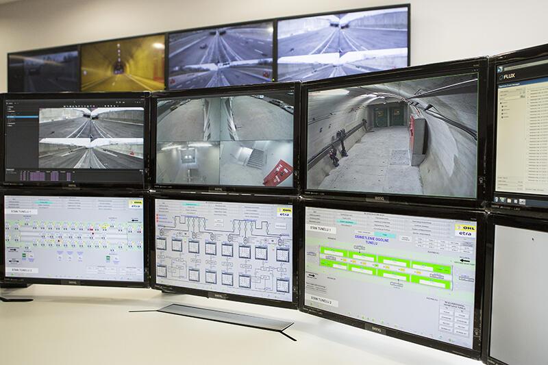 Centrum monitoringu tunelu pod Martwą Wisłą