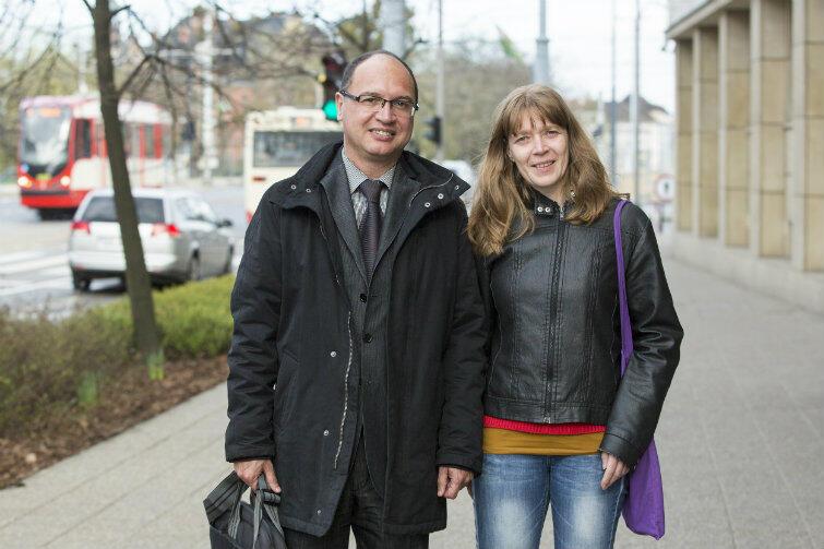 Anja Van den Durpel i Ramón Sanahuja i Vélez - eksperci Eurocities w Gdańsku.