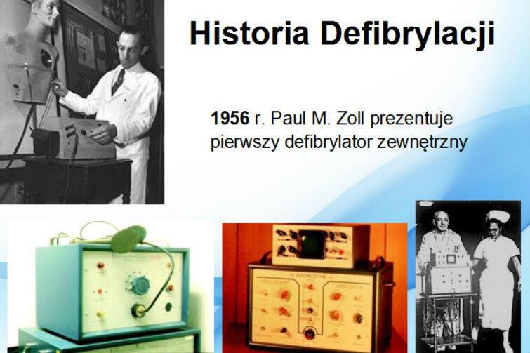 Pierwszy defibrylator jeździł na wózku i był wielkości małego telewizora.