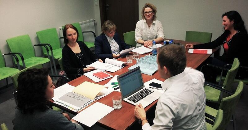 Spotkanie zespołu projektowego Dobre praktyki