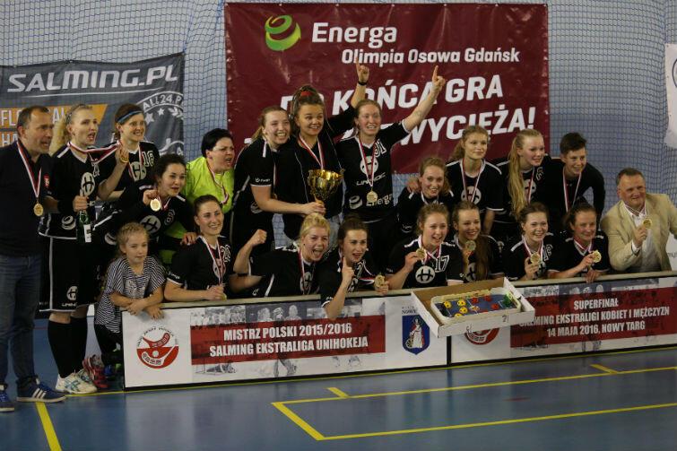 Unihokeistki Energi Olimpii Osowa Gdańsk ze złotymi medalami mistrzostw Polski