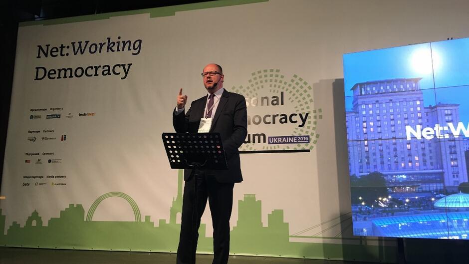 Wystąpnie prezydenta Pawła Adamowicza podczas Personal Democracy Forum