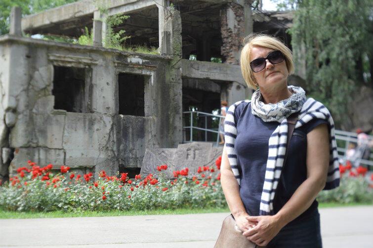 Dorota Stachura, przewodniczka PTTK. To za nią chodził nowy dyrektor Muzeum Westerplatte i Wojny 1939.