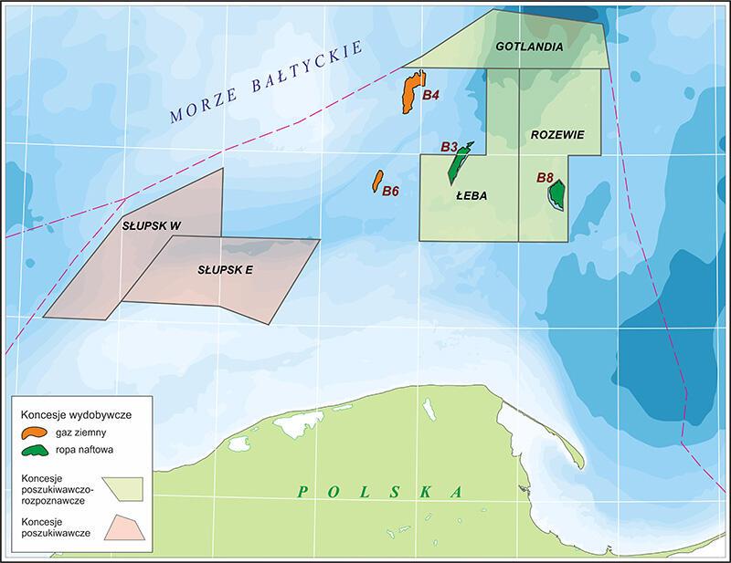 Położenie eksploatowanego przez LOTOS Petrobaltic złoża ropy B8