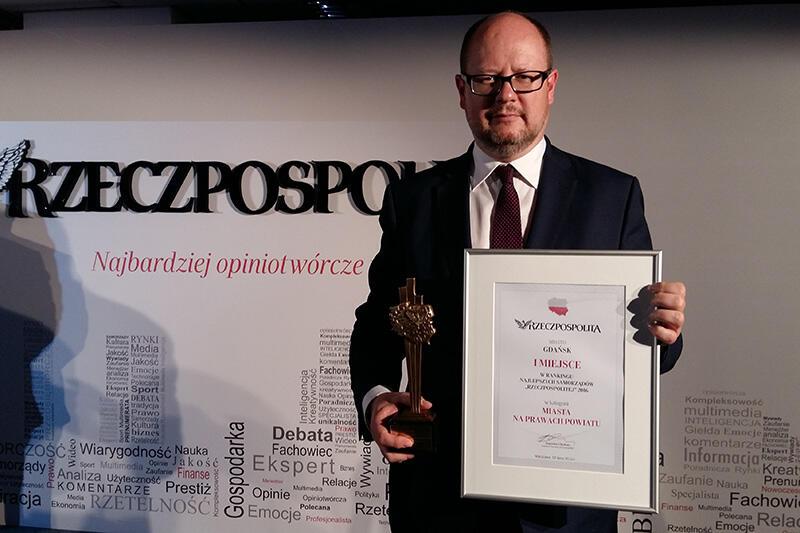 Gdańsk najlepszym samorządem w Polsce w roku 2016 - ranking dziennika Rzeczpospolita