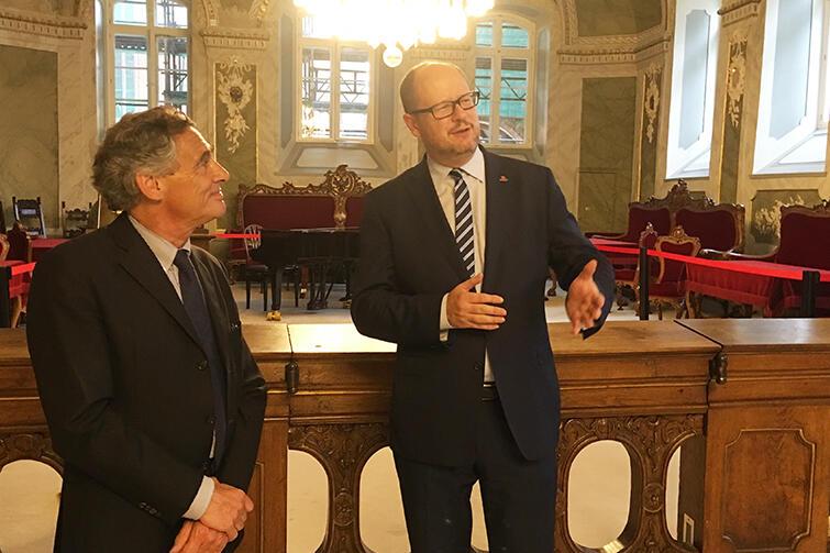 Ważnym elementem wizyty było oficjalne spotkanie z burmistrzem Lubeki, Prezydentem  Związku Hanzy. Berndt Saxe, który kieruje miastem od 16 lat odwiedzał w tym czasie Gdańsk aż dziewięć razy, podkreśla ogromne zmiany, jakie u nas za każdym razem obserwuje