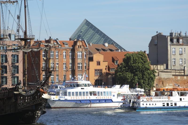 Charakterystyczna bryła muzeum zdążyła już wrosnąć w gdański krajobraz