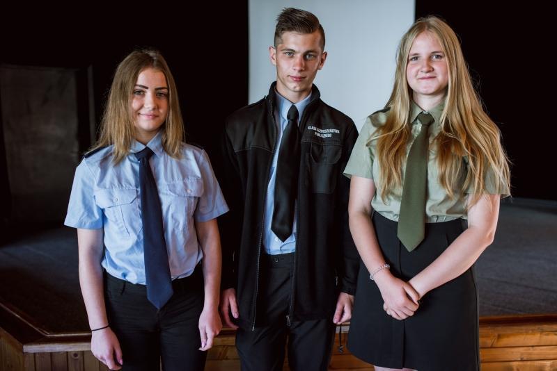 Uczniowie IV LO w Gdańsku (od lewej): Karolina Kosowska, Aleks Rowiński, Adrianna Wadryn
