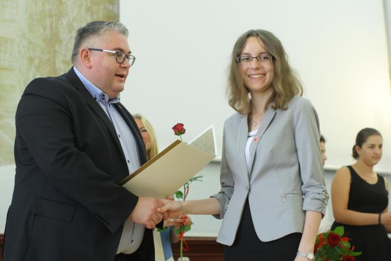 Stypendia wręczał prezydent Piotr Kowalczuk