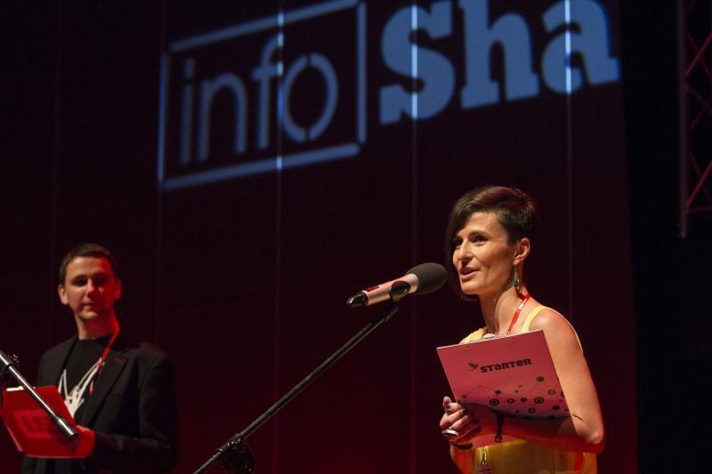 Małgorzata Jasnoch, prezes STARTERA podczas tegorocznej edycji InfoShare