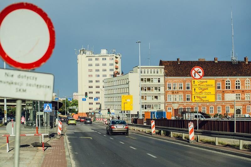 Prace drogowe wokół Forum Gdańsk