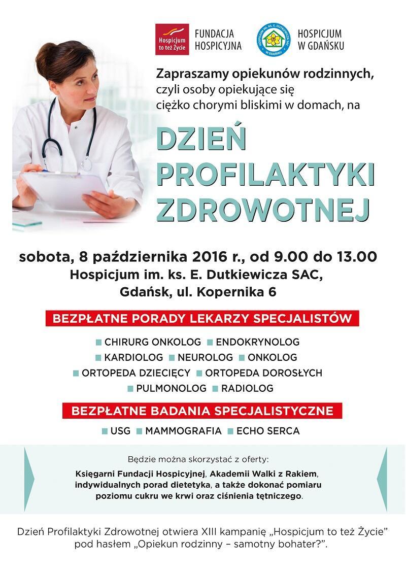 Plakat promujący Dzień Profilkatyki