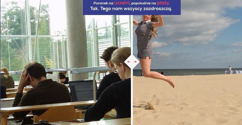 Zrzut ze strony Study in Gdansk: czy plaża to dobry powód, by podjąć studia w Gdańsku?