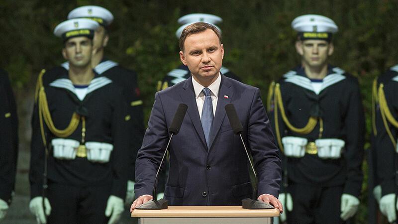 Sojusznik Gdańska, prezydent Andrzej Duda, przemawia na Westerplatte.
