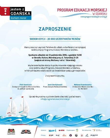 Spotkanie zamykające VII edycję Programu Edukacji Morskiej w Gdańsku