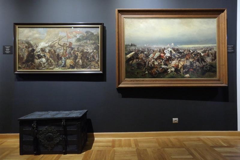 Bitwa pod Grunwaldem - po raz pierwszy dwie wersje obok siebie: nasza - matejkowska i krzyżacka - Aleksandra Rittera von Bensa młodszego.