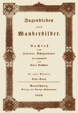 Strona tytułowa wspomnień Johanny Schopenhauer wydanych po jej śmierci