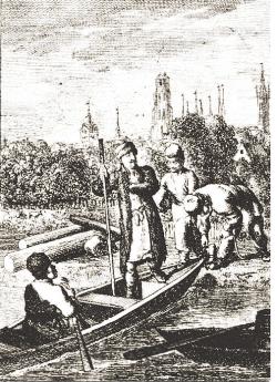 Ucieczka Stanisława Leszczyńskiego z oblężonego Gdańska; rycina Daniela Chodowieckiego