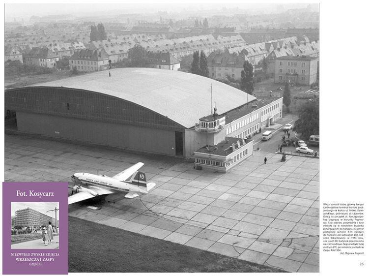 Wieża kontroli lotów, główny hangar. Gdańsk Zaspa