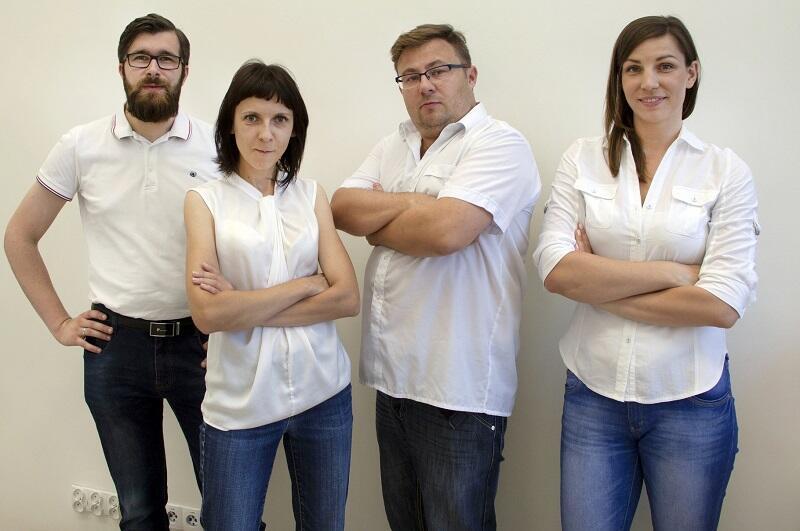 Drużyna Detoxed Home (od l.): Szymon Graczyk, Aleksandra Rutkowska, Błażej Kudłak i Aleksandra Szybiak