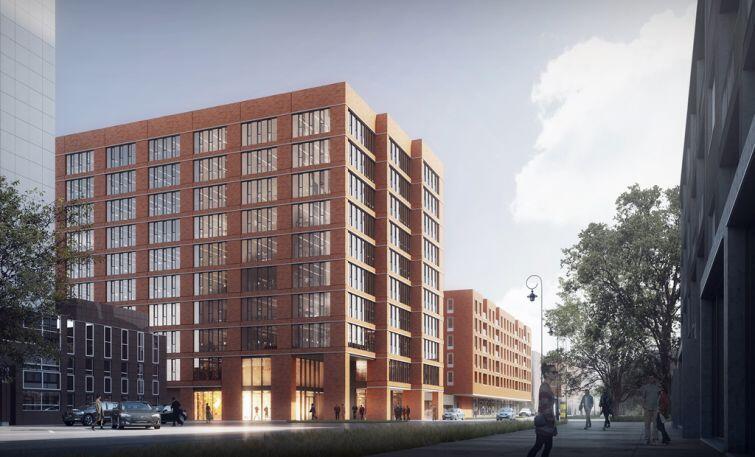 W niższym budynku mieszkalnym znajdzie się 161 apartamentów o powierzchniach od 25 do 145 mkw