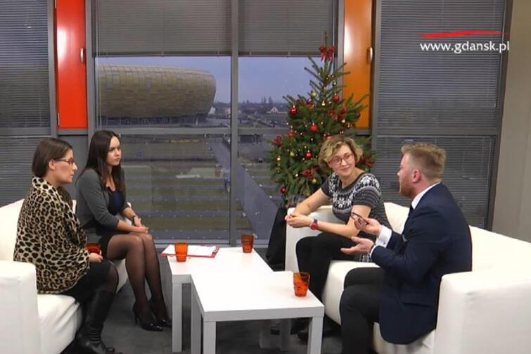 Od lewej: Zofia Lisiecka, Natalia Gawlik, Anna Strzałkowska i Tomasz Snarski