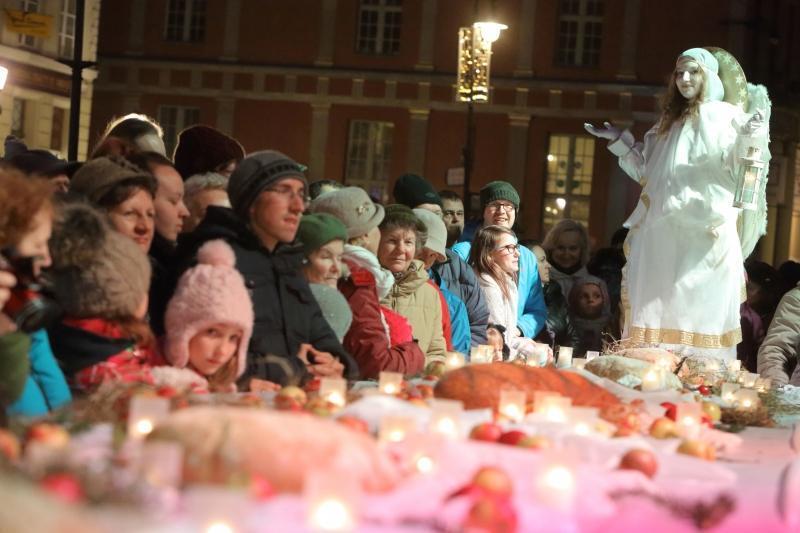 Tradycyjna coroczna Wigilia gdańszczan na Długim Targu