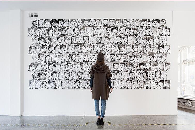 Zwycięska praca Zuzanny Golińskiej podczas Gdańskiego Biennale Sztuki 2014
