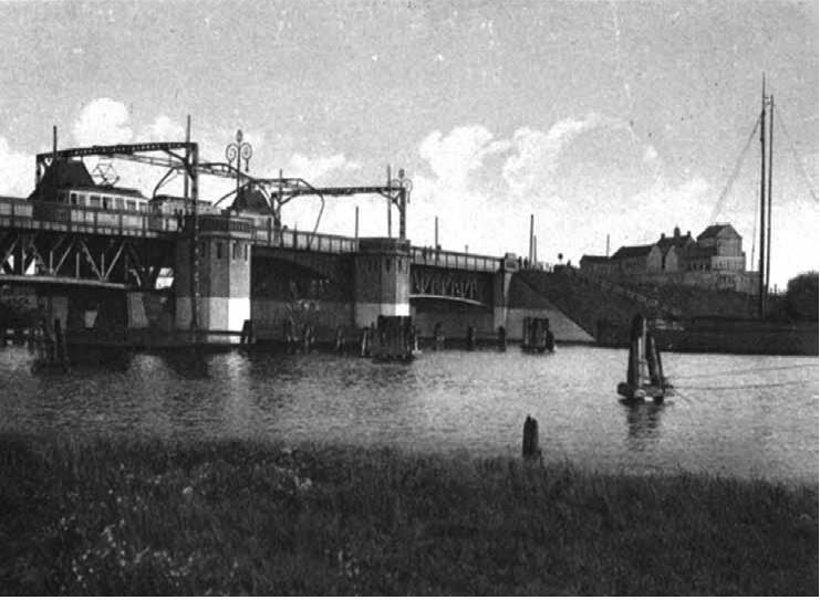 Widok mostu od strony północnej, ok. 1930