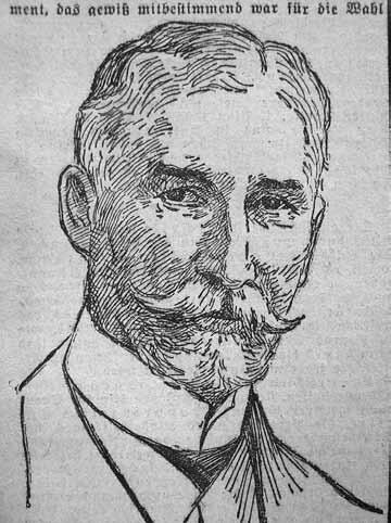 Pruski minister kolejnictwa Paul von Breitenbach (1850-1930)